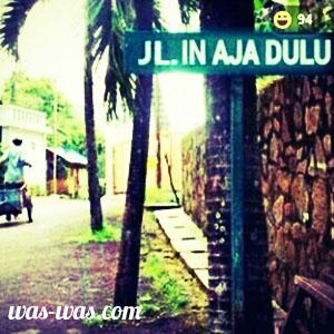 nama jalan lucu 8