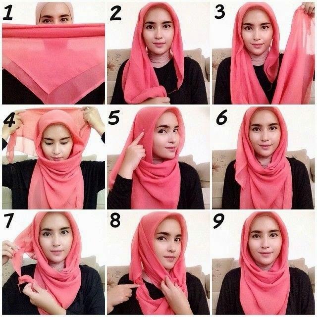 cara-pemakaian-jilbab-segi-empat
